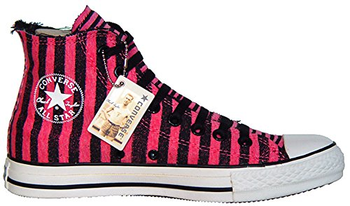 Converse Chucks All Star Bestellnummer 101982 Gr.:EU 43 UK 9,5 Limited Edition Color: Pink / Schwarz gestreift