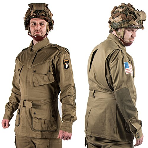 ZWJP WW2 US Army m42 Uniform 101 Air Force Paratroopers Troops Suits Without Helmet (Wwii Paratrooper Uniform)