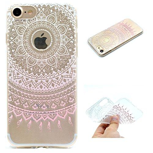 iPhone 5 5S SE Cover , YIGA Rosa Chiaro Cambiamento Graduale Silicone Cristallo Morbido TPU Case Custodia per Apple iPhone 5 5S SE