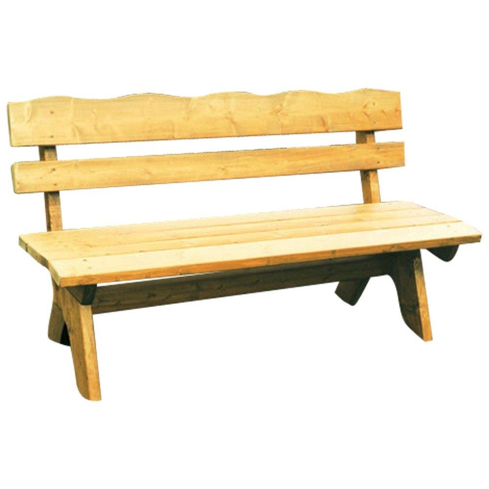 Gartenbank 4-Sitzer 200x60x82cm Freital Holz Kiefer Massiv hellbraun ...