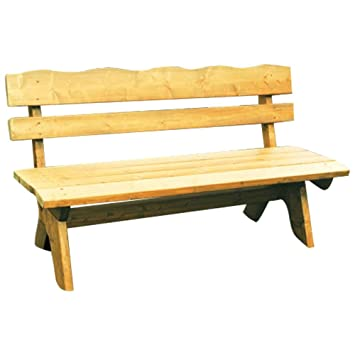 Gartenbank 3-Sitzer 150x60x82cm Freital Holz Kiefer Massiv hellbraun ...