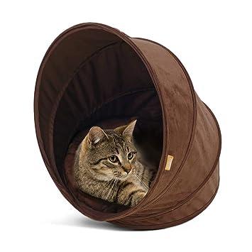 KYCD Nido de Gato en Espiral Cerrado, Cama de Gato Interior cálido Casa acogedora Bolsa