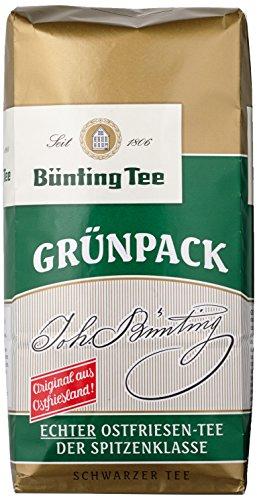 Bünting Tee Grünpack Echter Ostfriesentee 1000 g lose, 1er Pack (1 kg)