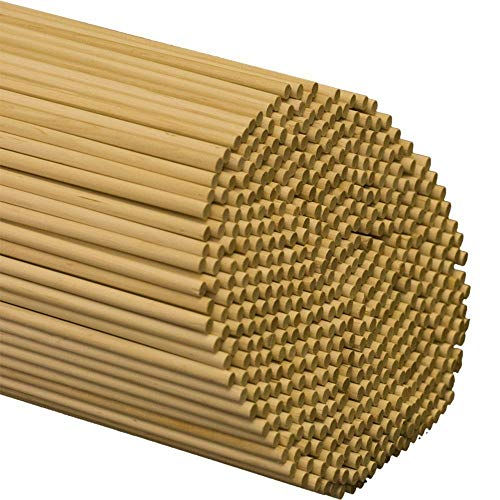 Dowel Rods Wood Sticks Wooden Dowel Rods 3/16 x 36 Inch Bag of 50 Unfinished Hardwood Birch Sticks, Straight and Smooth, Garden Staking Young Plants, Crafting and DIY Projects by Woodpeckers
