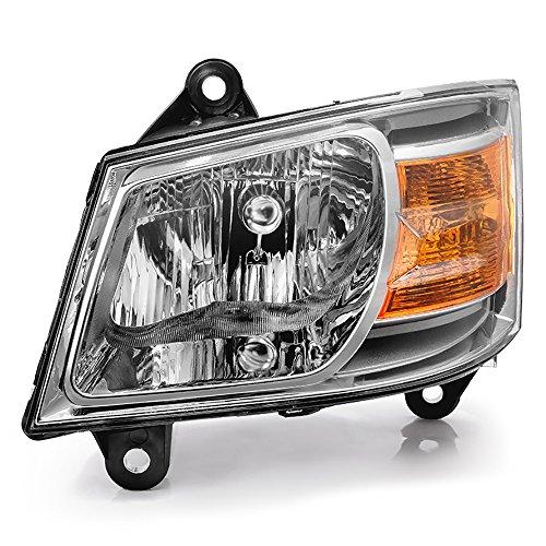 VIPMOTOZ Chrome Housing OE-Style Headlight Headlamp Assembly For 2008-2010 Dodge Grand Caravan, Driver Side ()
