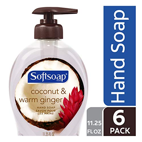 - Softsoap Liquid Hand Soap, Coconut and Warm Ginger - 11.25 fluid ounce (6 Pack)
