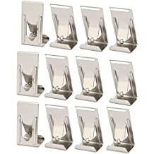 uxcell 26mmx14mm Picture Photo Frame Metal Spring Turn Clip Hanger Siver Tone 12pcs