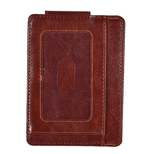 Woogwin Minimalist Slim Wallet Mens Rfid Blocking Money