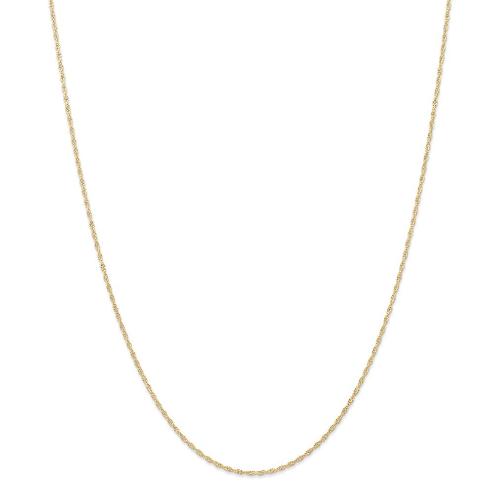 14k Yellow Gold Anchor with Rope Pendant on a 14K Yellow Gold Rope Box or Curb Chain Necklace