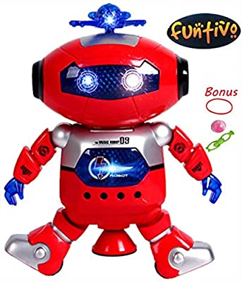 FUNTIVO the Toy Robot – Dancing Robot, Musical and Dancing Robot for Kids – Red