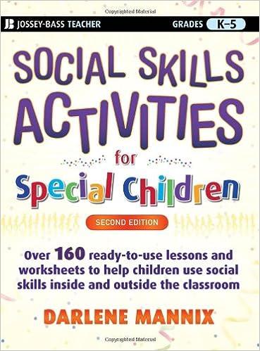 Workbook elementary art worksheets : Social Skills Activities for Special Children: Darlene Mannix ...