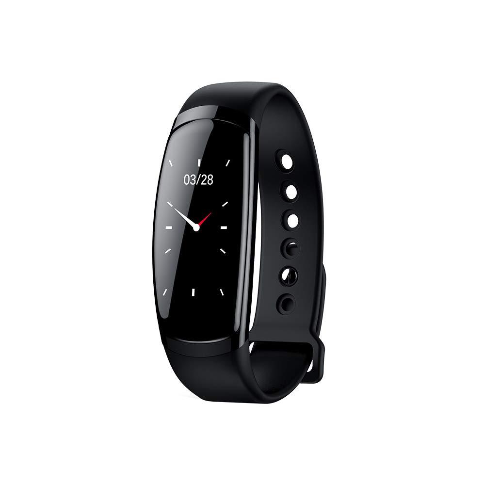 NOIR MDMMBB Bracelet imperméable à l'eau de surveillance de la fréquence cardiaque de la pression artérielle des hommes et des femmes de sport en cours d'exécution montre à écran couleur Huawei bracelet mu