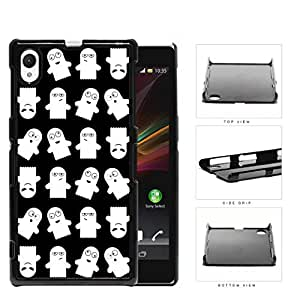 Ghost Silly Faces Cartoon Humor Hard Plastic Snap On Cell Phone Case Sony Xperia Z1 by icecream design