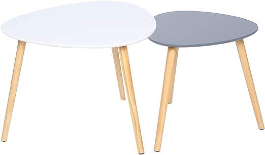 Happy Home WEI&GRA - Juego de 2 mesas de centro anidadas con patas ...