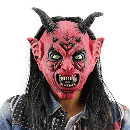 [Gameyly Halloween Costume Accessory Devil Monster Mask Mask-C] (Latex Devil Mask)