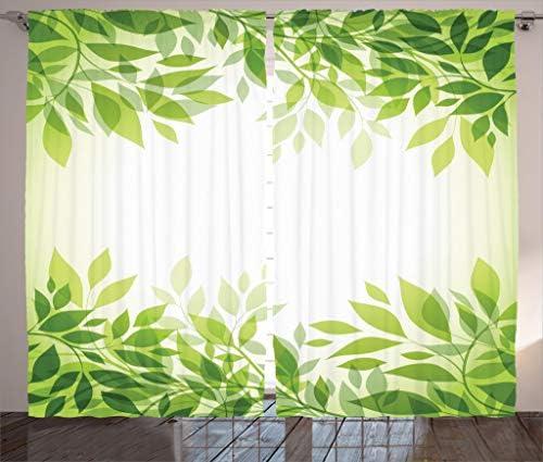 Ambesonne Leaf Curtain