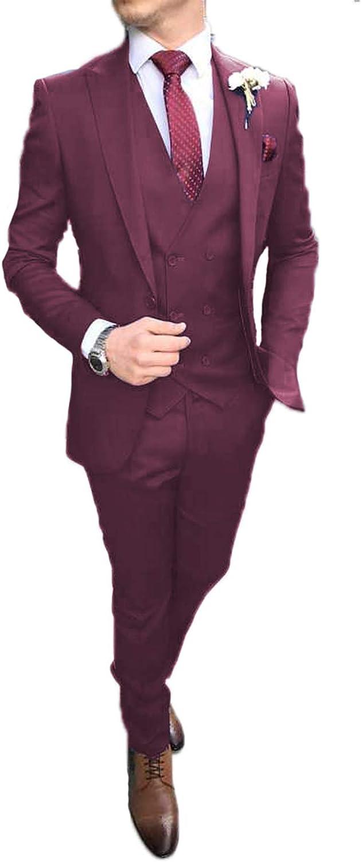 New Burgundy Gold Tuxedo Jacket Coat Men/'s Suits 38 40 42 44 46 48 In Stock