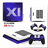 jordan box - Ci-Yu-Online VINYL SKIN [PS4 Slim] Air Jordan 11 Retro Shoe Box Light Bar Whole Body VINYL SKIN STICKER DECAL COVER for PS4 Slim Playstation 4 Slim System Console and Controllers