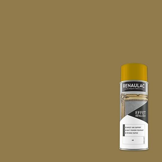 Renaulac Peinture Aérosol Déco Multi-Supports - Or (Or Métal