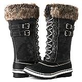 Globalwin Women's 1735 Grey Waterproof Snow Boots 8.5M US