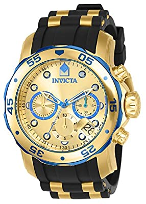 Invicta Men's 17887 Pro Diver Blue-Accented and 18k Gold Ion-Plated Stainless Steel Watch from Invicta