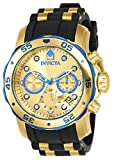 Invicta Men's 17887 Pro Diver Blue-Accented and 18k Gold Ion-Plated...