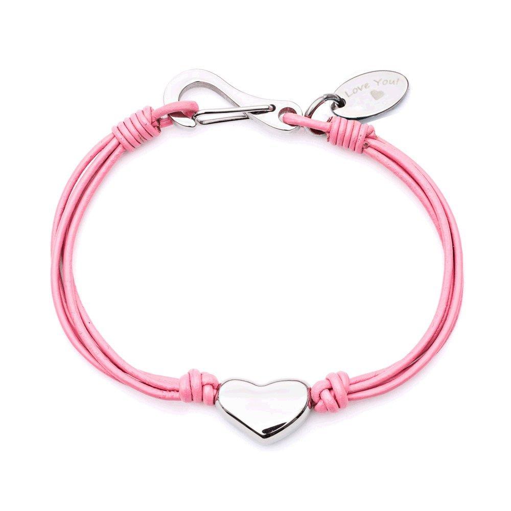 Tribal Steel Girls Pink Charm Bracelet of Length 16.5cm Tk1462D Pk 16.5 Lu Tk1462d Pk 16.5 LU