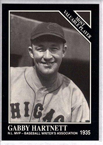 Baseball MLB 1991 Conlon Collection #313 Gabby Hartnett MVP NM-MT Cubs - Gabby Collection