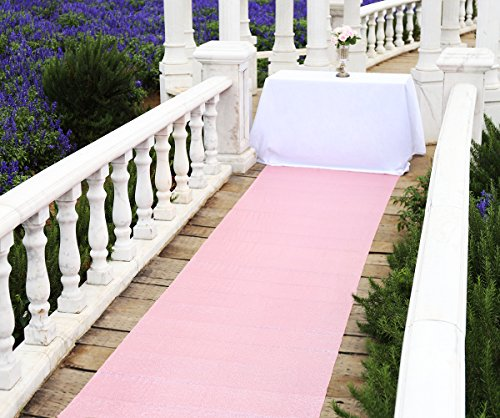 Zdada Outdoor Wedding Aisle Runner Carpet Rug Pink- 4FTX15FT