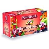 Pompadour Infusione per Bevande Calde, Tutti Frutti e Vitamine - 20 Astuccio