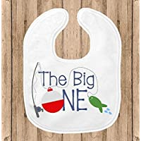 The Big One Baby Bib for Boys, 1st Birthday Party Smash Cake Bib, Fishing Theme Party, Fishing Theme Bib