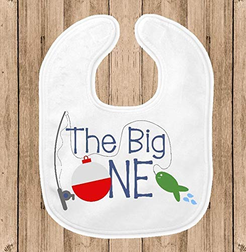 The Big One Baby Bib for Boys, 1st Birthday Party Smash Cake Bib, Fishing Theme Party, Fishing Theme - Bib 1st Birthday Personalized
