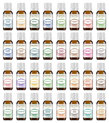 Ultimate Essential Oil Set 32-10 ml 100% Pure Therapeutic Grade for Aromatherapy Diffuser, Skin, Body, Hair. Perfect for DYI Crafts, Soap, Lotion, Cream, Lip Balm and Candle Making.