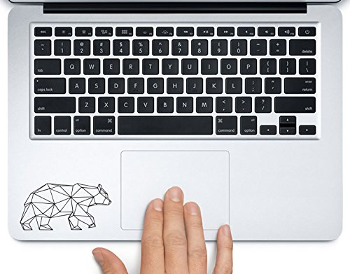 (Geometric Bear Modern Art Printed Trackpad Clear Vinyl Decal Sticker Compatible with Apple MacBook Pro Air 11