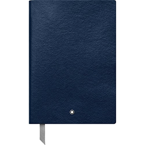 (Montblanc Notebook Indigo Lined #146 Fine Stationery 113593 - Elegant Journal with Leather Binding and Ruled Pages - 1 x (5.9 x 8.2 in.))