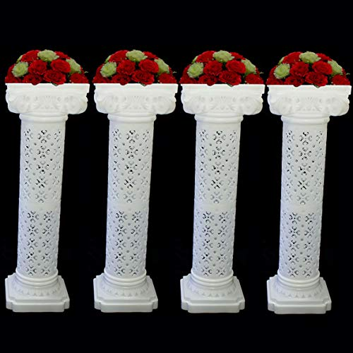 Mikash Wedding Roman Venetian Pillar Plastic Columns Garden Venue Decoration Set | Model WDDNGDCRTN - 28561 | 4 -
