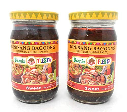 (Barrio Fiesta Ginisang Bagoong (Sauteed Shrimp Paste) Sweet, Net Wt 250g (8.85oz), 2 Pack)