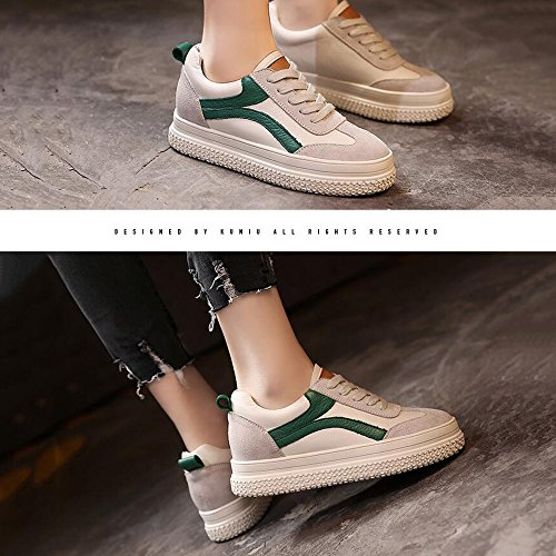 Women's Sneakers For Outdoor Years HAIZHEN 40 Old Girls Platform For Fall Green up Comfort Walking 40 Booties Shoes Casual Lace 18 Years Spring 18 BOOTS Ladies aIw7wX