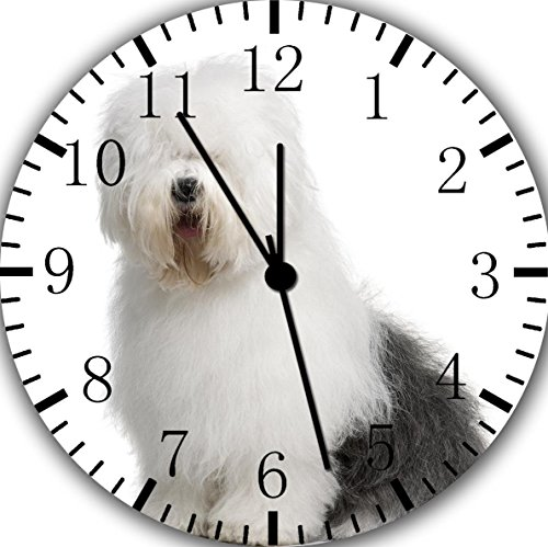 Old English Sheepdog Frameless Borderless Wall Clock F138 Nice For Gift or Room Wall Decor