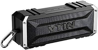 Vtin 20W Altavoz Bocina Bluetooth Inalámbrico, Sonido Estéreo, Premium Dual-Drivers, Radiador Pasivo, Conexión AUX - color Negro