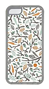 iPhone 5c Cases - Wholesale Summer Cool TPU Transparent Cases Personalized Design The Branches Of The Leaves