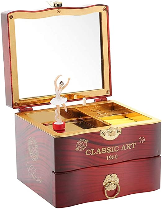 Clásico, Elegante, Cuadrado, Almacenamiento, joyero, Caja de ...