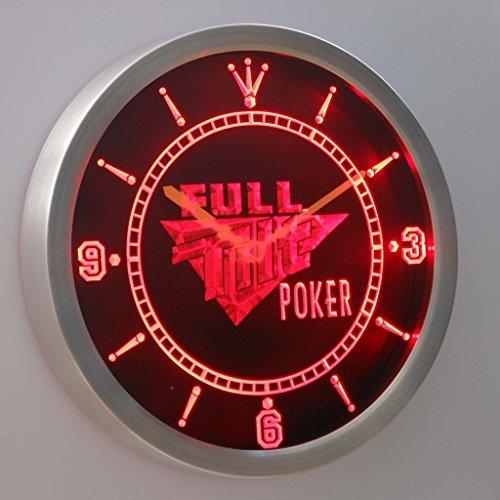 (Full Tilt Poker 3D Neon Sign LED Wall Clock NC0201-R)