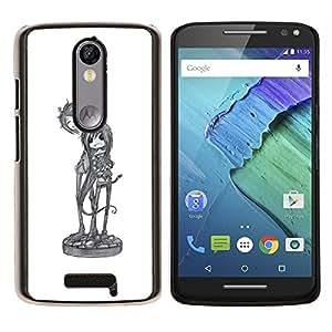 YiPhone /// Prima de resorte delgada de la cubierta del caso de Shell Armor - boceto de un personaje del arte de la música de banda fresca - Motorola Moto X3 3rd Generation