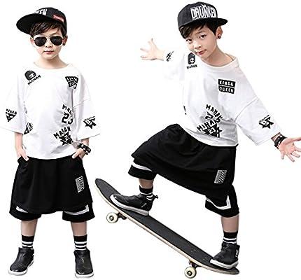 66c84f13c Moyuqi Boy Modern Jazz hip Hop Dance Costume Sweatshirt Top Pants ...