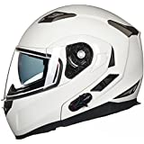 ILM Bluetooth Integrated Modular Flip up Full Face Motorcycle Helmet Sun Shield Mp3 Intercom (XL