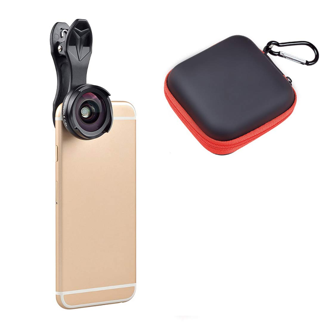 Kathleen Chance Smartphones 2 in 1 Smartphone Camera Lens Wide Angle Lens & Macro Lens for iPhone Samsung Android Most (Color : Black)