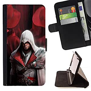 For Apple Iphone 5C Assassin Pirate Leather Foilo Wallet Cover Case with Magnetic Closure