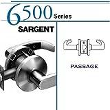 SARGENT 65U15-KL-26D PASSAGE CYLINDRICAL LOCK: 6500 SERIES, SATIN CHROME