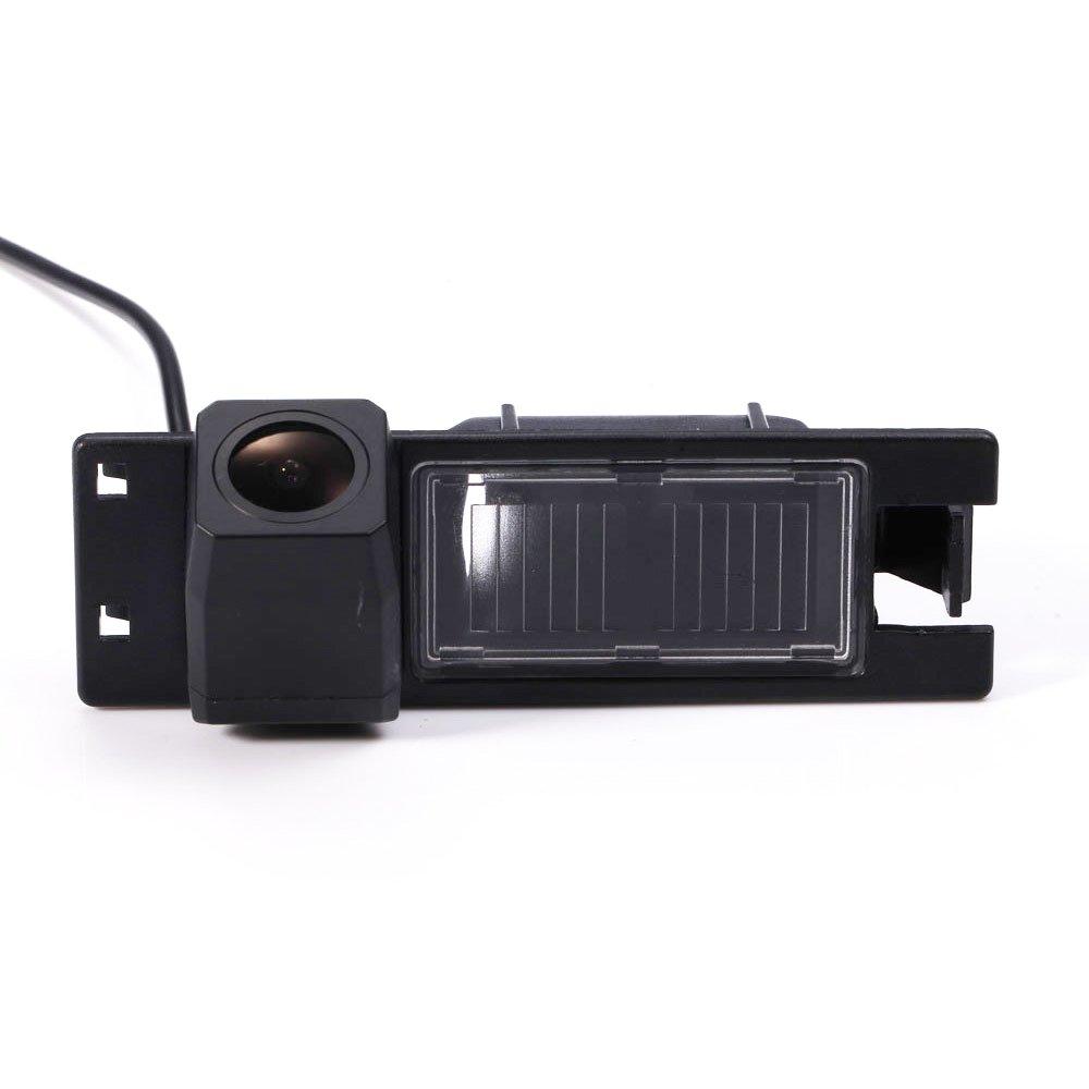 Navinio Telecamera per retromarcia a colori Telecamera di assistenza al parcheggio per illuminazione targa, luce targa per Astra H Corsa D Vectra C Tigra Meriva A Regal Insignia NV8039BSTAR-GE